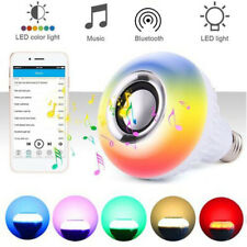 WIRELESS BLUETOOTH BULB LIGHT SPEAKER B22 LED SMART MUSIC PLAY LAMP + REMOT