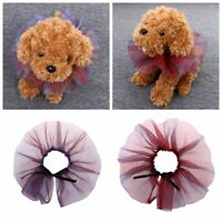 60cm Pet Dog Cat Necklace Puppy Collar Mesh Flower Neck Scarf for Small Pets