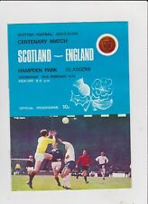 1973 Scotland v England CENTENARY MATCH at Hampden Park.