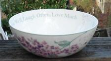 Lenox Butterfly Meadow Semtiment Serving Bowl Live Well Laugh Often Love Much
