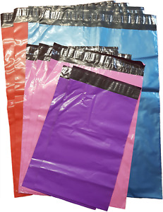 Coloured co-ex poly mailing postal security bags. Available in 4 colours 5 sizes