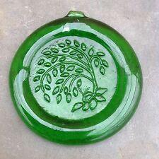 Green Willow Glass Suncatcher Figural Christmas Ornament