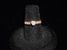 613 14k yellow gold diamond engagement ring 4.1 grams .55 ct round G SI 1 size 6