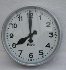 neuwertige Bürk - Industrie Fabrik - Uhr  - Loft um 1950