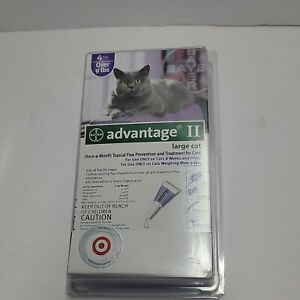 ADVANTAGE II FLEA CONTROL FOR CATS AND KITTENS OVER 9 LBS 4 Pack Large Cat