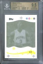 2005-06 Topps Yellow Printing Plate #133 Ben Wallace No 1 of 1 BGS 9.5