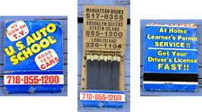 Pochette d'allumettes US Auto school, USA