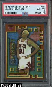 1995 Finest Mystery #M24 Dennis Rodman Chicago Bulls HOF PSA 6 EX-MT