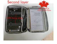 double-deck special bag box case for XieGu G90 SDR HF transceiver ham radio