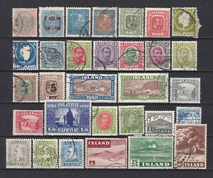 Iceland - small collection old stamps, used and mnh.