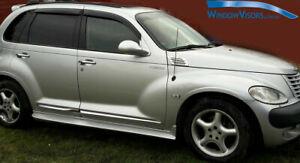 Window Visors WeatherShields weather shields for Chrysler PT Cruiser 2001-2010