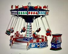 Lemax #94956 THE COSMIC SWING  Set Of Two  Carnival Animated Ride BNIB