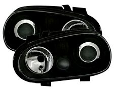 BLACK R32 STYLE HEADLIGHTS HEADLAMPS FOR VW GOLF MK4 MK 4 1J 10/97-9/03