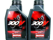 2x 1 Litro MOTUL 300v 15w-60 15w60 4 tiempos ACEITE DE MOTOR para OFF ROAD Ester