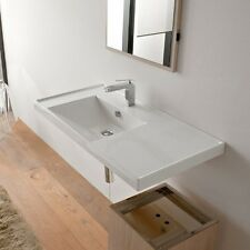 Scarabeo Scarabeo3008-Threehole 3008-Three Hole White Ceramic Bathroom Sink 3008