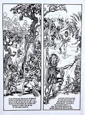 BURNE HOGARTH  TARZAN  COMIC STRIP  ART TRANSPARENCY