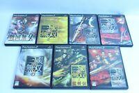 PS2 Dynasty Warriors shin sangokumusou lot of 7 KOEI sony GAME JAPAN