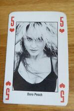 DORO PESCH SINGLE CARD KERRANG THE KING OF METAL 1990's