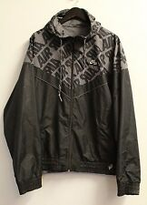 Nike Air Mens Black / Grey Reversible Windbreaker Jacket, Size XXL, VGC