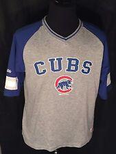 Chicago Cubs Logo Mlb Baseball Nl Central Stitches Blue Gray Polyester Shirt
