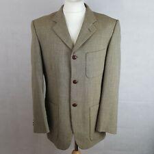 TORRE Mens Blazer Jacket Brown Size UK 40 Wool Tweed Single Breasted Lined
