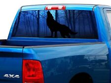 P428 Wolf Rear Window Tint Graphic Decal Wrap Back Truck Tailgate