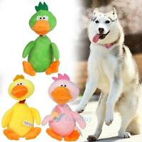 Funny Pet Cat Dog Puppy Chew Squeaker Squeaky Plush Sound Duck Training Toys A