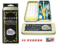 Geometry Set The Oxford Maths, Technical Geometry With Tin Case Stationery Set