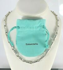 Tiffany & Co Paloma Picasso Sterling Silver Groove 9.5'' Link Necklace 87.3g