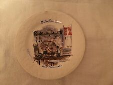 """collectable plate 6 5/8"""", Betsy Ross house, Artist signed, old Philadelphia"""