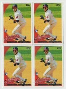 (4) Michael Brantley 2010 TOPPS SERIES 1 ROOKIE LOT #270 INDIANS / ASTROS