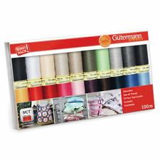 Gutermann Sew All thread Set,100m x 20 reels Sewing Quilting Dressmaking 734609