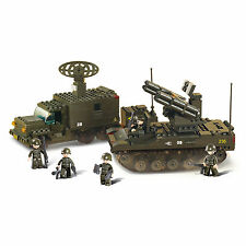 SLUBAN ROCKET LAUNCH SYSTEM SET - 511 Pieces Army Building Block Bricks Toy