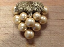 Vintage - Bunch of Grapes shawl / scarf clip - intricate with great style