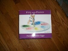 "Fitz And Floyd Spring Easter Bunny ""Painting Easter Eggs"" Egg Tray - Platter"