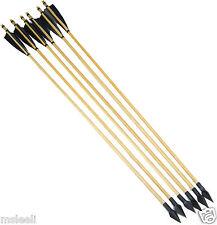 6X Turkeys Feather+Wood Shaft Archery Hunting Recurve Bow Mitsubishi ArrowHead