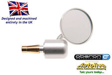 "Oberon billet 60mm 'Streetfighter' bar end mirror (Silver-1"") - Autolive Online"