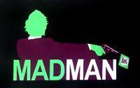 1 of 4 designs Mad Men 28x16 oil painting iconic TV Jon Hamm,framing avail