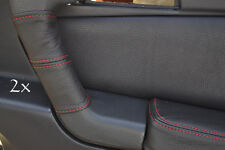 Se adapta a Alfa Romeo Gtv Cuero 2x Manija De Puerta cubre Roja St
