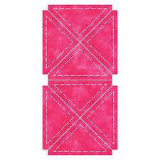 "AccuQuilt GO Fabric Cutting  Die Quarter Square 4"" Finished Triangle 55047"