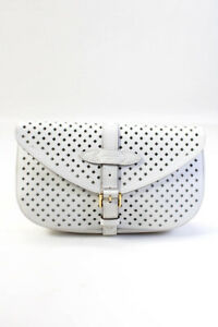 Louis Vuitton Flore Saumur Leather Clutch Bag with Mirror White