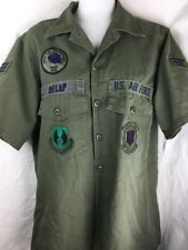 Vintage Vietnam Era USAF Short Sleeve Uniform Shirt Mcclellan AFB