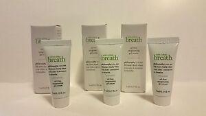 NIB (3) Philosophy Take a Deep Breath  Oil Free Oxygen Gel Cream .17oz = .51oz!!