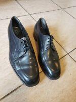 Vtg Florsheim Imperial Mens Size 13E ~ V-Cleat 722346 ~ Black Oxford Dress Shoes
