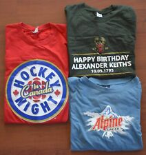 COLLECTION Canadian Beer T-Shirts Alpine KEITHS Budweiser HOCKEY NIGHT IN CANADA