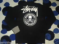 STUSSY MASTERMIND JAPAN LOOPWHEELER CIRCLE SKULL CARDIGAN SWEATER BLACK S SMALL