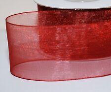 Many New Colours !!! Woven Edge Organza Sheer Chiffon Wedding Ribbon CUT Lenght