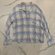 Vince button down plaid long sleeve large