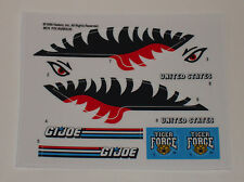 GI Joe Tiger Force Tiger Fish Sticker Decal Sheet
