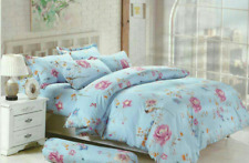 Bedsheet + Quilt Cover Set fitted Floral Design  - Queen size